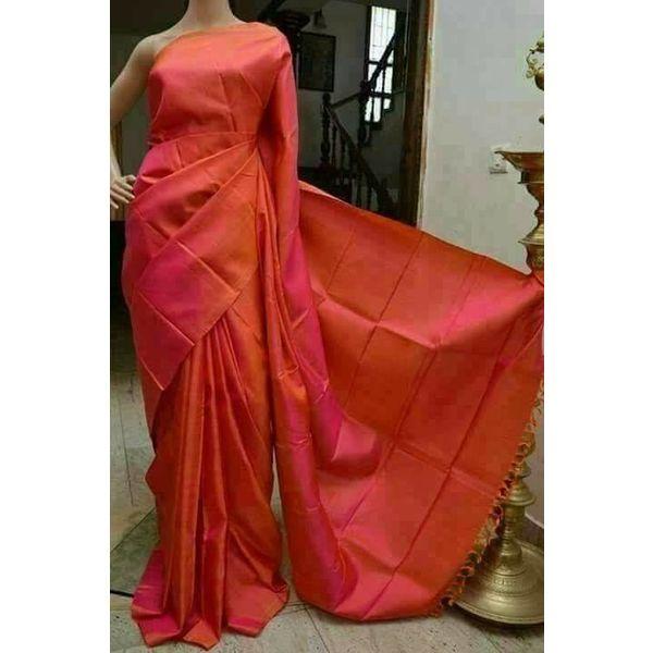 Bishnupuri Silk Saree in Solid/Plain Colours 17