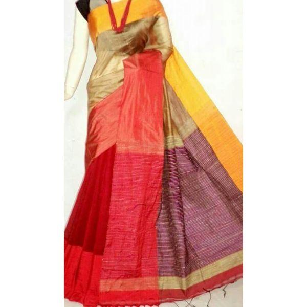 Mahapar Cotton Silk Saree 6.3 metre length with Blouse Piece 22