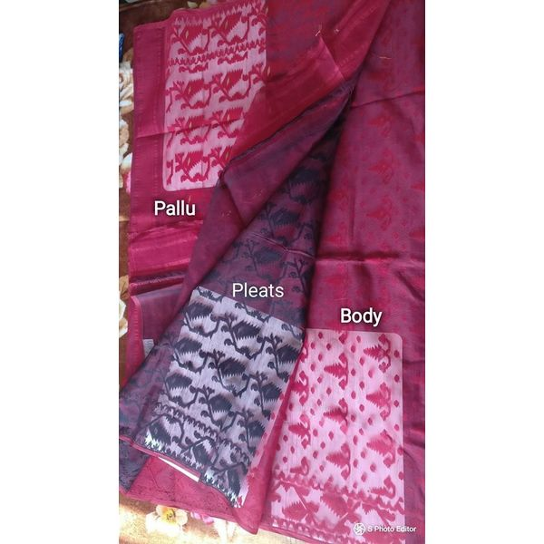 Dhakai Jamdani Cotton Saree 8