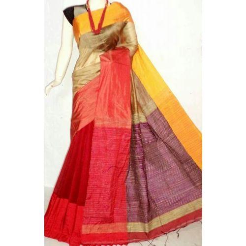 Mahapar Cotton Silk Saree 6.3 metre length with Blouse Piece 1
