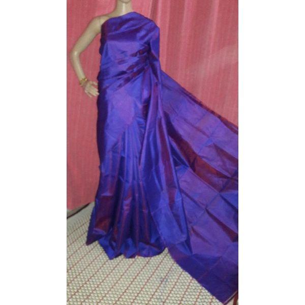 Bishnupuri Silk Saree in Solid/Plain Colours 3