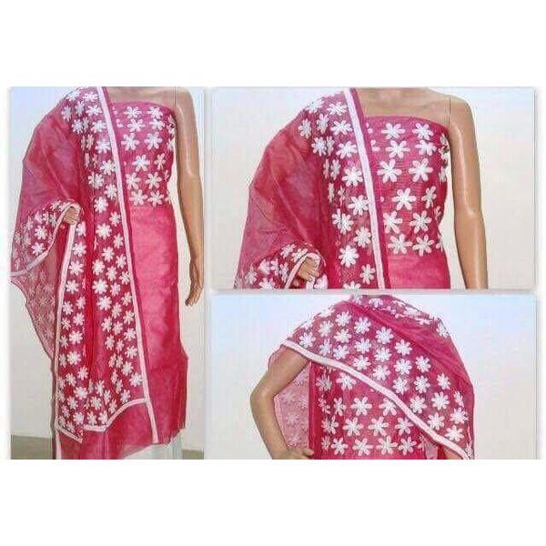Supernet Kota Suit with Aari Work 1