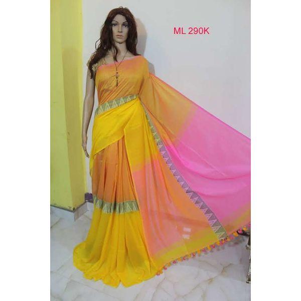 Madhyamoni Khadi Cotton Sarees Directly from Weavers 3