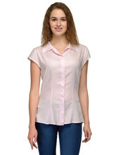 Patrorna Coat Collor Baby Pink Women's Formal Shirt (6PA004PK), s