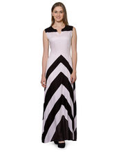 Patrorna Black And Pink A Line Empiredesigner Dress (10PA01BLPK), m
