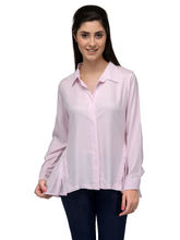 Patrorna Pink Designer Tunics With Rollup Sleeve Pintex And Nehru Collar (6PA016PK), 2xl