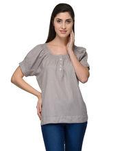 Patrorna Short Sleeve Greystone Designer Tops (6PA019GS), 2xl