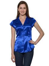Patrorna Coat Collor Royal Blue Women's Shirt (6PA001RBM), 2xl