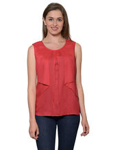 Patrorna Majestic Red Silk Women's Crop Top (6PA014RD), l
