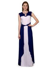 Patrorna Navy N Pink Designer Bodycon Dress Dress (10PA035NBPK), s