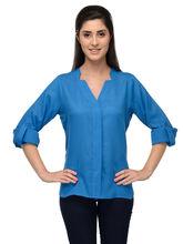Patrorna Royale Blue Designer Casual Shirt (6PA023TB), xs