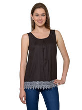 Patrorna Women's Black Cami Top (6PA015BL), l
