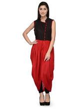 Patrorna Red And Black Dhoti Style Designer Party Dress (10PA017RDBL), l