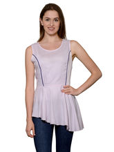 Patrorna Baby Pink Sleeveless Peplum Princess Top (6PA006PK), 2xl