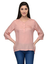 Patrorna Natural Fabrics Peach Women's Tops (6PA031PC), s
