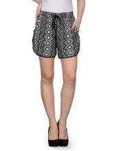 Patrorna Black Printed Shorts (8PA07BLPR), 28