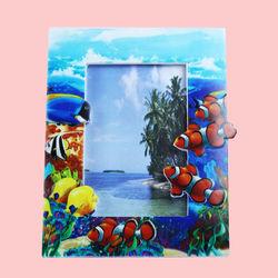 Creative Nemo Fish Design With Sand Effect Resin Photo Frame, ceramic, 22.5   1.5   18 cm,  blue