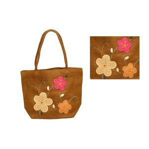 Fab5 Straw Braid Bag (Hy091065) (Brown), brown