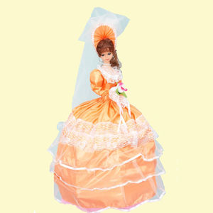 Musical Umbrella Doll, plastic, 19   12   65 cm,  orange