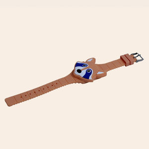 Wonderful 3D Cartoon Animal Led Digital Display Electric Watches For Kids, plastic, 24   2.5 cm,  orange