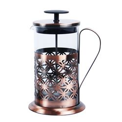 Designer Copper Kettle Pot Inside Tin Lining, Serving French Press Coffee,  metal, 58   38   46.5 cm, copper  glass