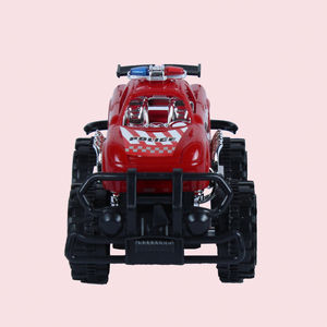 Unbreakable Mini Monster Trucks Friction Powered Cars For Kids With Big Rubber Tires,  red, 12   7   7 cm, plastic