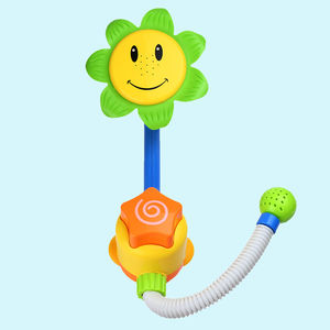 Cute Sunflower Bath Shower Wheel For Baby Kids, plastic, 41   21   13 cm,  yellow