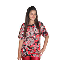 Red and Black T-shirt for Women, xl
