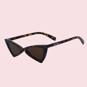 Triangle Fancy Sunglass, plastic, 14.5   3   6.5 cm,  black