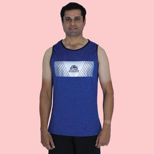 Ultra Soft And Smooth Sleeveless T-Shirt For Men's,  blue, xxl, 90  polyester and 10  spandex