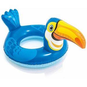 Big Animal Inflatable Swim Ring,  white, 28    22   71   56 cm , plastic