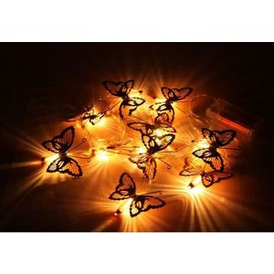 Decorative Butterfly Shape Fluorescent LED Light,  copper, l 165cm, metal