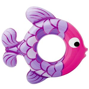 Purple Fish Shape Swimming Tube