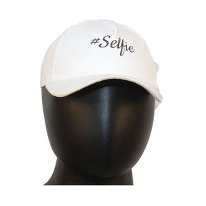 Fab5 Printed Selfie Slogan Velcro Cap (White, Pack Of 1), white
