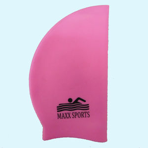 Plain Moulded Silicone Swimcap, silicone, 22   19   1 cm,  pink