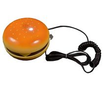 Hamburger Telephone Handset,  yellow