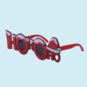 Fancy HoHoHo Party Sun Glasses for Boy's and Girl's,  red, 32   3   22 cm, plastic