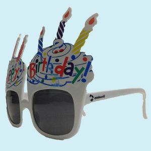 Fancy Happy Birthday Party Sun Glasses for Boy's and Girl's, plastic, 26   3   24 cm,  white