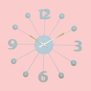 Decorative Round Shape Wall Clock, metal, 40   40   3.2 cm,  lawn green