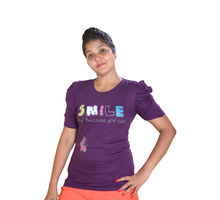 Cotton T-shirt for Women,  purple