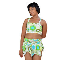 Multicolor 2 Piece Swim Wear for Girls
