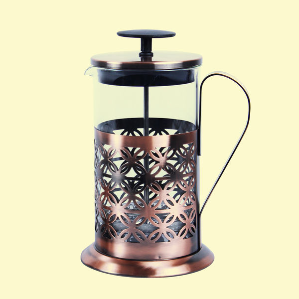 Designer Copper Kettle Pot Inside Tin Lining, Serving French Press Coffee
