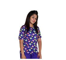 Nylon Printed T-shirt for Women, xl,  blue