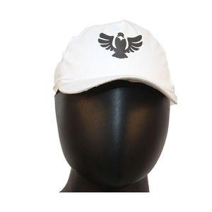 Fab5 Printed Eagle Slogan Velcro Cap (White, Pack Of 1), white