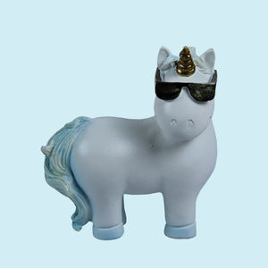 Unique Ceramic Unicorn For Home Decor, ceramic, 8.5   6   10.5 cm,  white