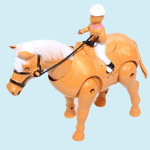 Walking Horse, plastic, 16.5   14   5 cm,  brown