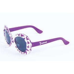 Zebra Print purple kids fancy sunglasses, plastic, 13.5   3   5 cm,  pink