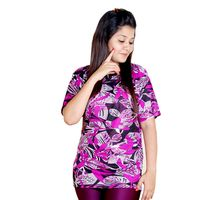 Purple and Black T-shirt for Women, xl