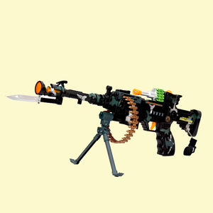 Super Combat Machine Gun With Lights, Vibration & Infrared Ray For Targeting Toy Gun For Kids, plastic, 18   8   14 cm,  black