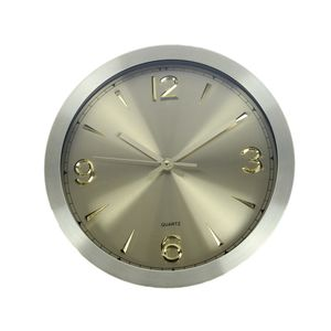 Premium Analog Wall Clock For Home And Office,  gold, 30   30   4.2 cm, metal